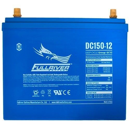 Battery Fullriver DC150-12 150Ah 900A 12V Dc FULLRIVER - 1