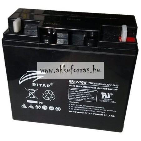 Batería Ritar HR12-70W 18Ah 12V Hr RITAR - 1