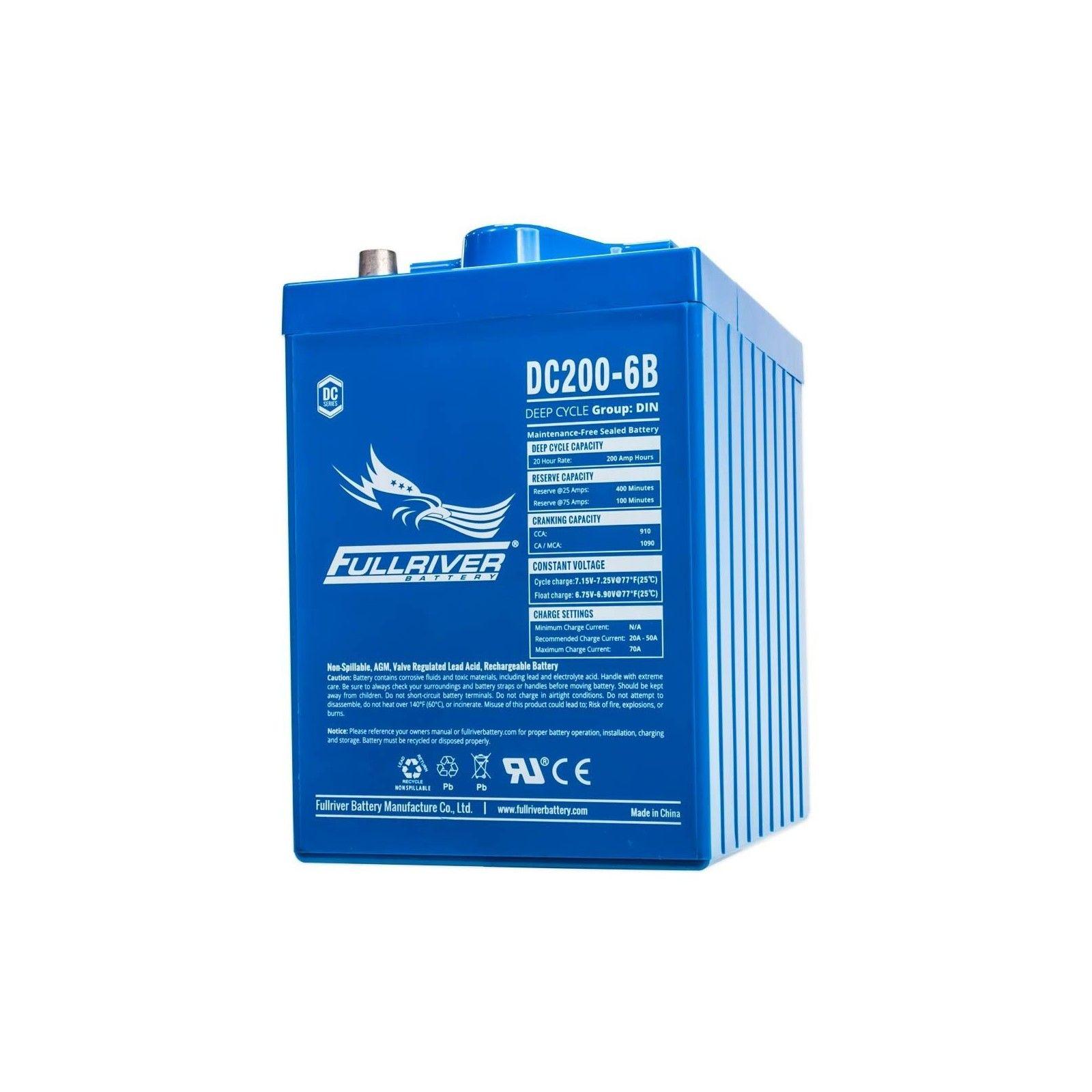 Batería Fullriver DC200-6 200Ah -A 6V Dc FULLRIVER - 1