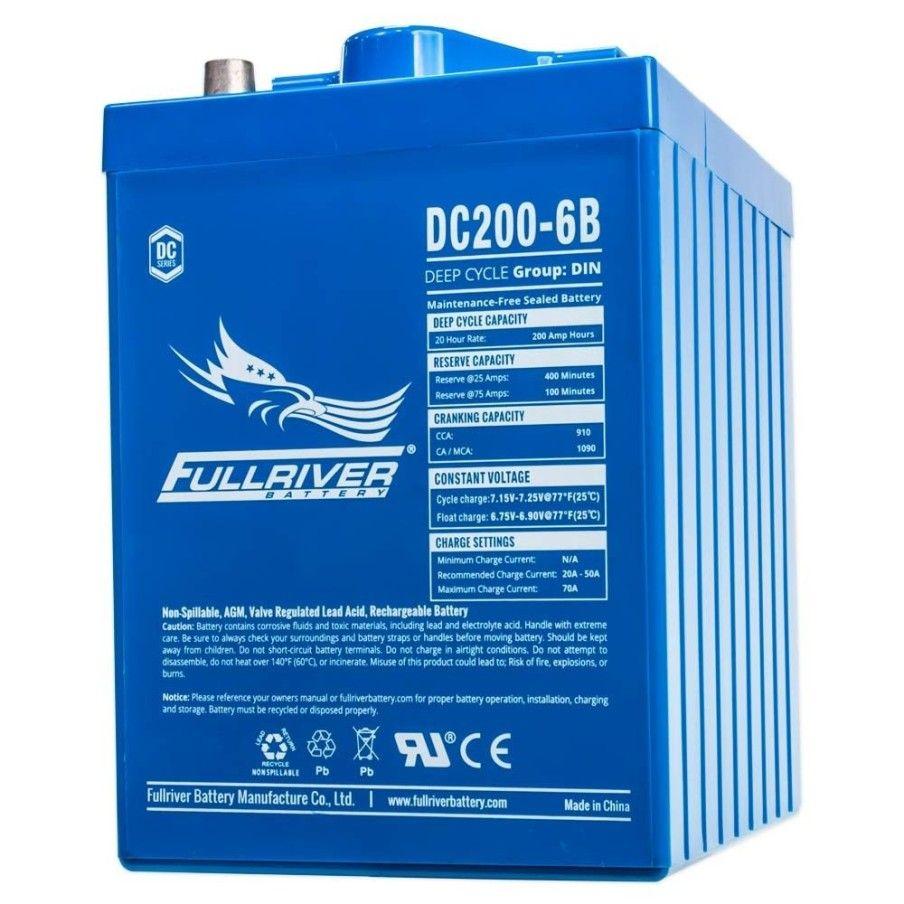 Battery Fullriver DC200-6 200Ah -A 6V Dc FULLRIVER - 1