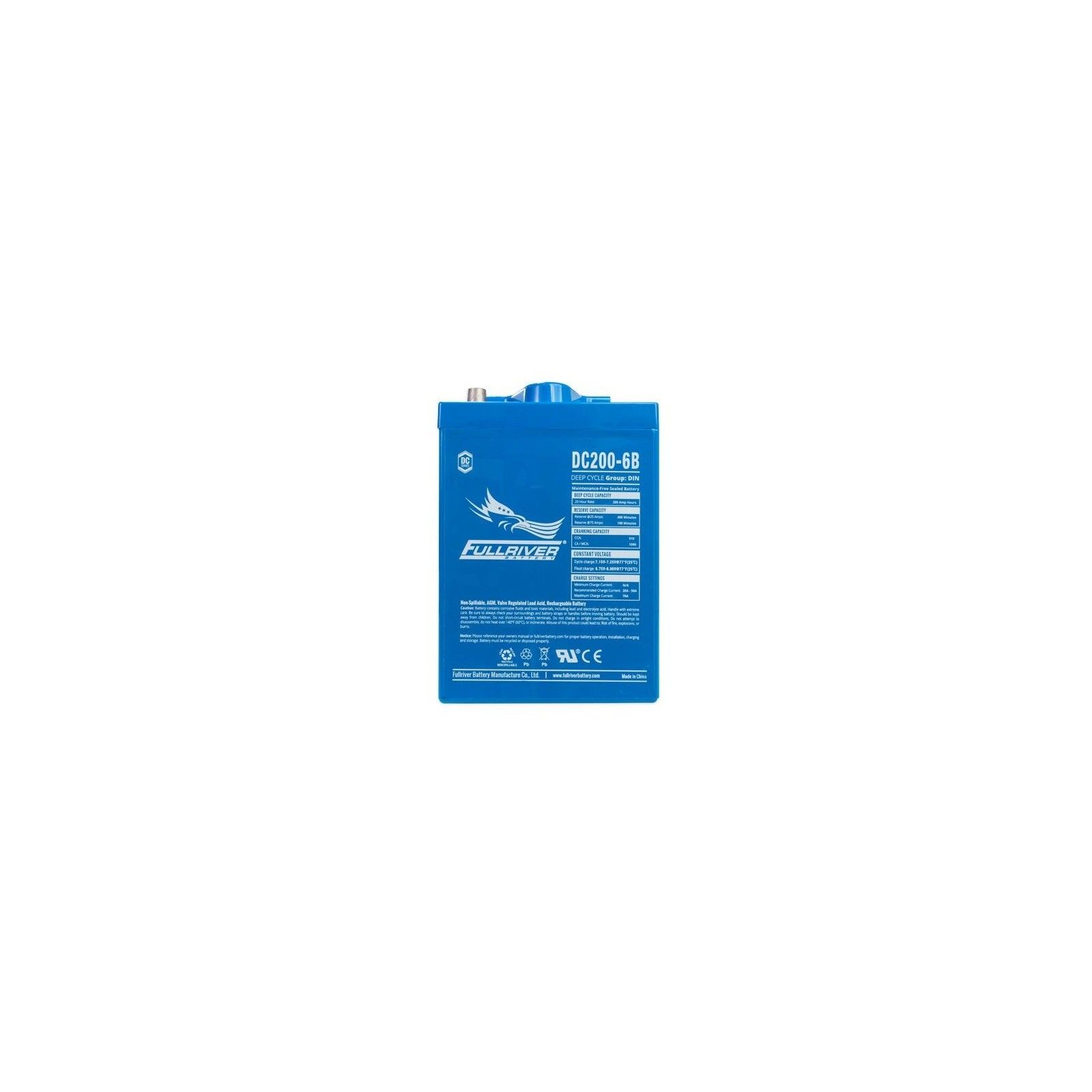 Battery Fullriver DC200-6B 200Ah -A 6V Dc FULLRIVER - 1