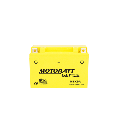 Batería Motobatt YTX9BS MTX9A 9Ah 140A 12V Super Gel MOTOBATT - 1