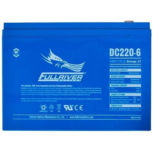 Battery Fullriver DC220-6 220Ah -A 6V Dc FULLRIVER - 1