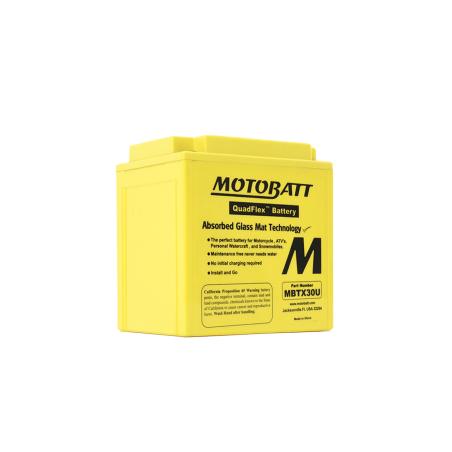 Batería Motobatt MBTX30U 32Ah 385A 12V Quadflex MOTOBATT - 1
