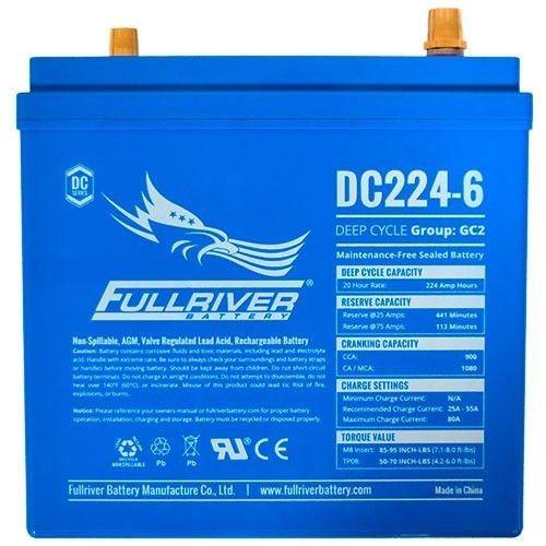Batería Fullriver DC224-6A 224Ah -A 6V Dc FULLRIVER - 1