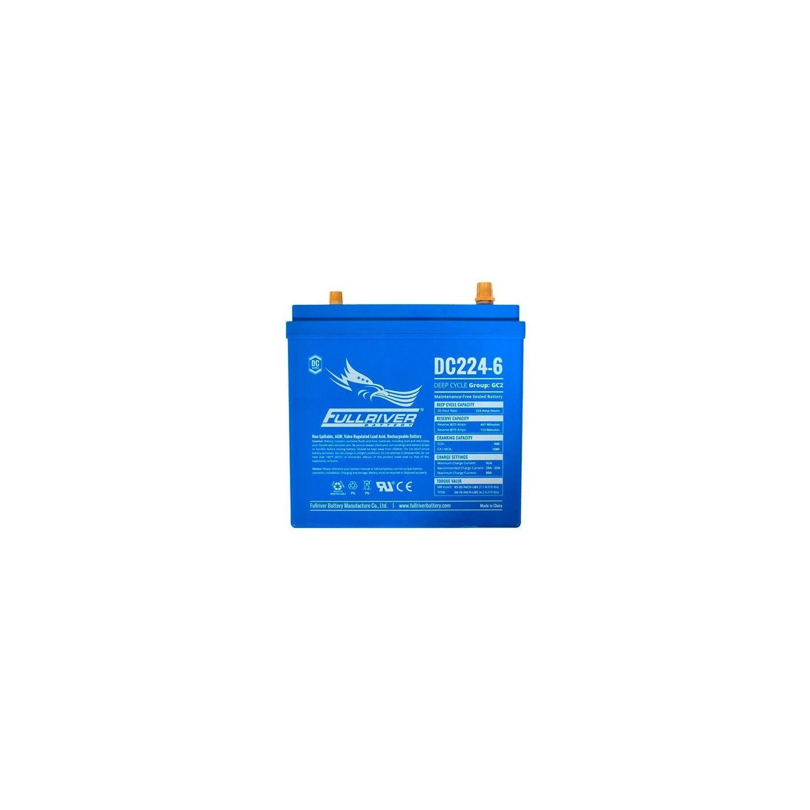 Battery Fullriver DC224-6A 224Ah -A 6V Dc FULLRIVER - 1