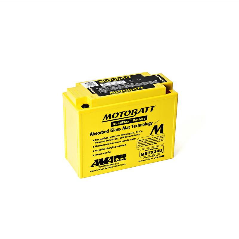 Batería Motobatt MBTX24U 25Ah 300A 12V Quadflex MOTOBATT - 1