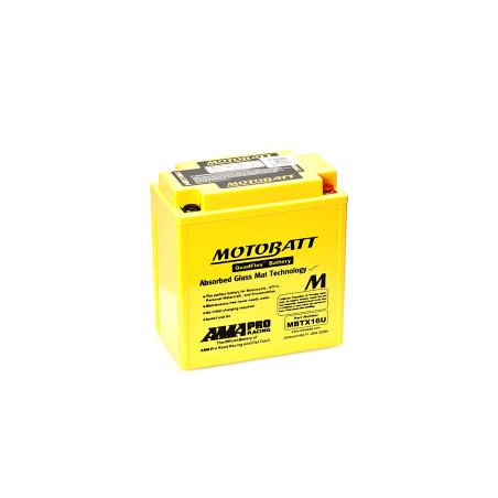 Batería Motobatt MBTX16U 19Ah 250A 12V Quadflex MOTOBATT - 1