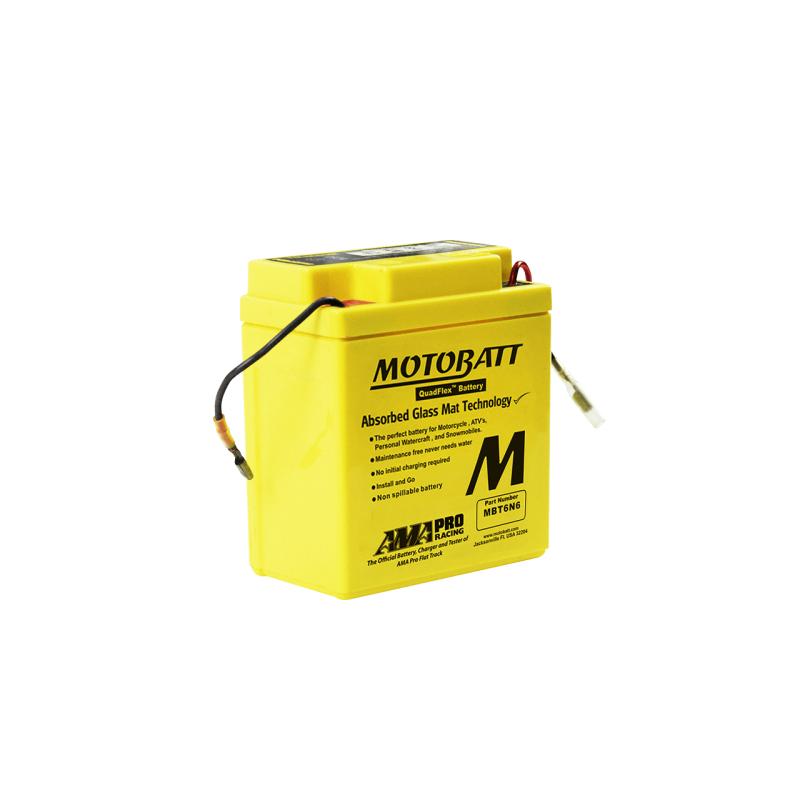 Batería Motobatt MBT6N6 6Ah 6V Quadflex MOTOBATT - 1