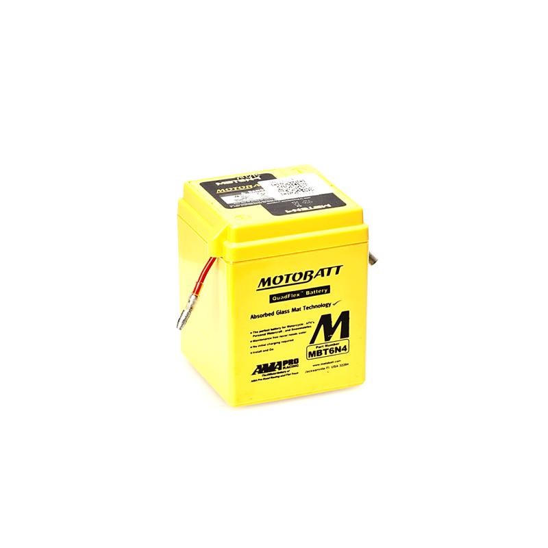 Batería Motobatt MBT6N4 4Ah 6V Quadflex MOTOBATT - 1