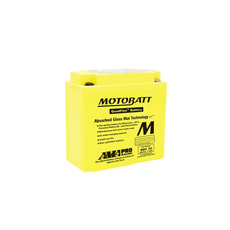 Batería Motobatt MB5.5U 7Ah 90A 12V Quadflex MOTOBATT - 1