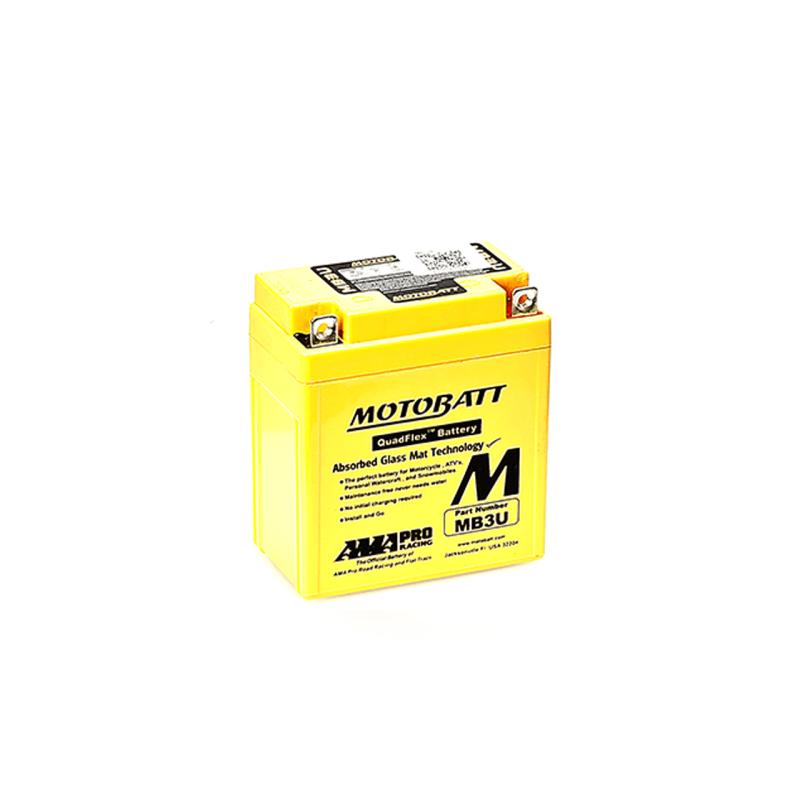 Batería Motobatt MB3U 3,8Ah 50A 12V Quadflex MOTOBATT - 1