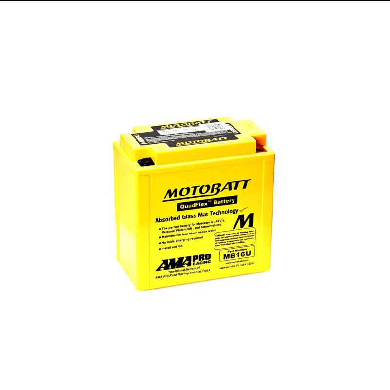 Batería Motobatt YB16BA-YB16BA2 MB16U 20Ah 240A 12V Quadflex MOTOBATT - 1