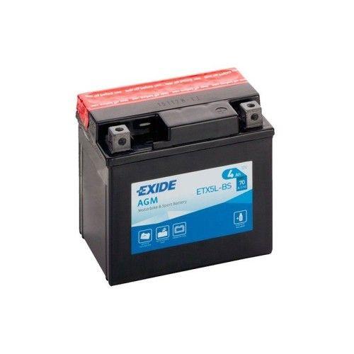 Bateria Exide ETX5L-BS Bike 12V Agm EXIDE - 1