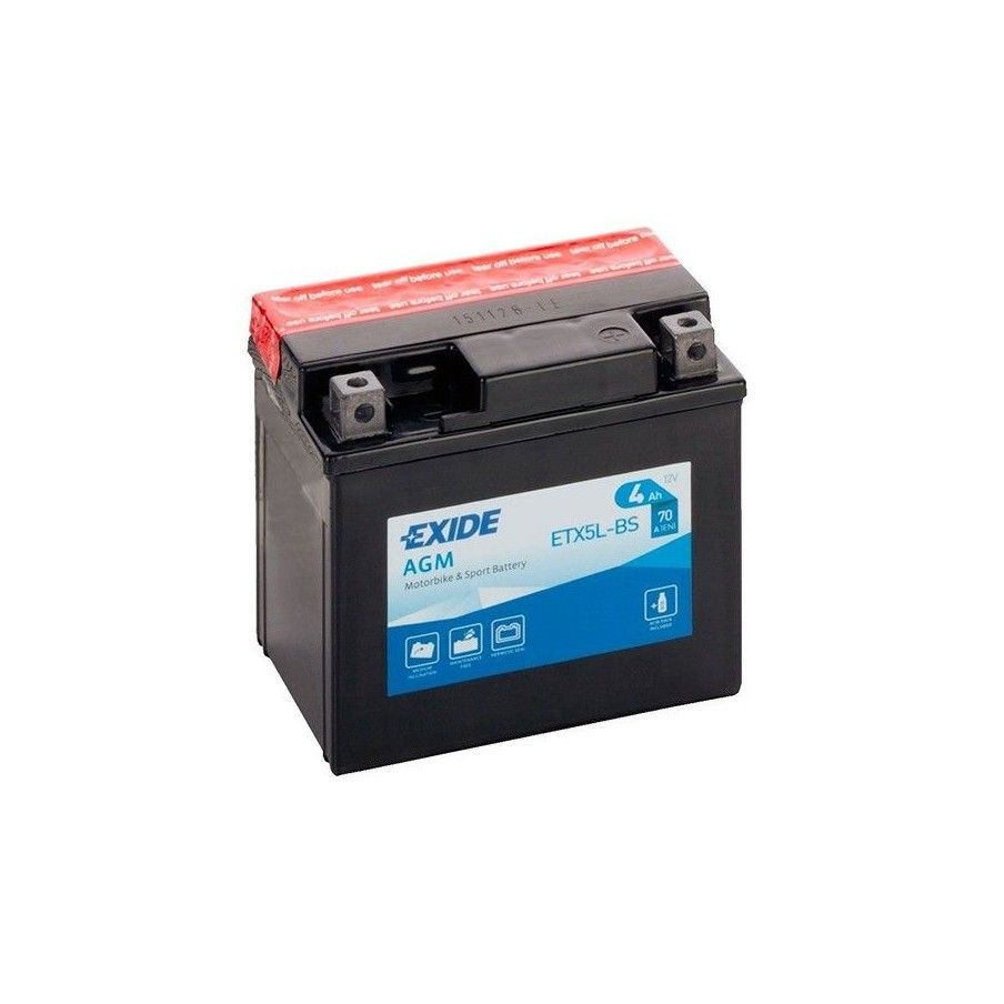 Batterie Exide ETX5L-BS Bike 12V Agm EXIDE - 1