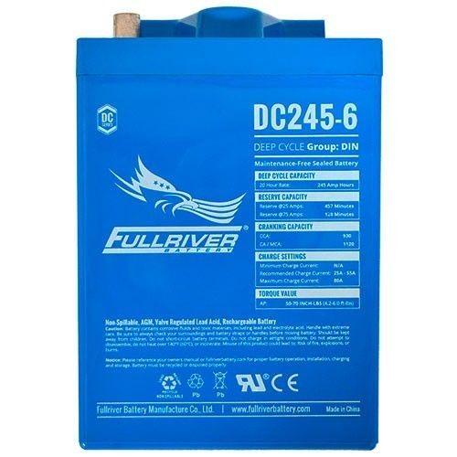 Batería Fullriver DC245-6 245Ah -A 6V Dc FULLRIVER - 1