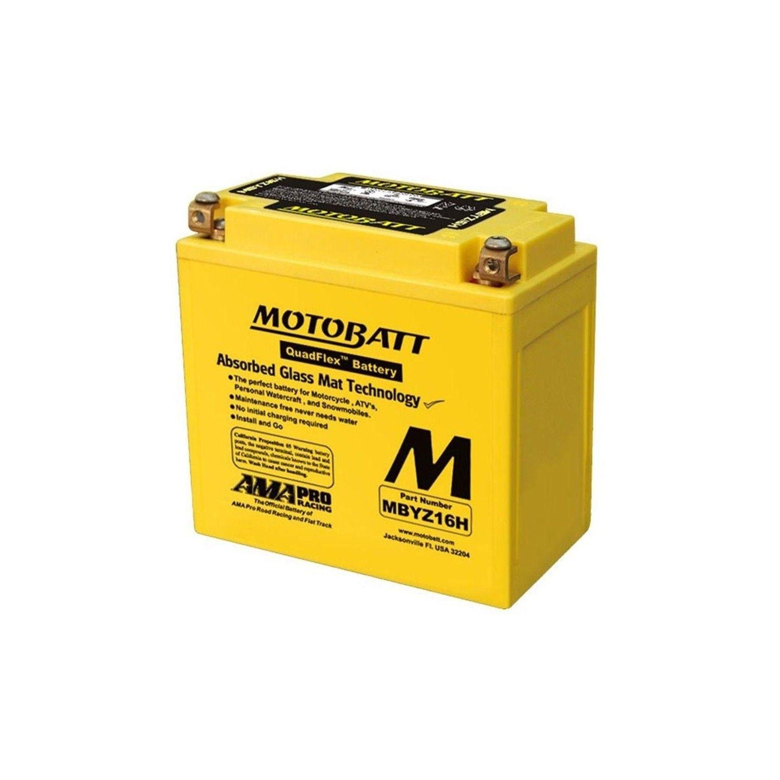 Batterie Motobatt MBYZ16H 16,5Ah 240A 12V Quadflex MOTOBATT - 1