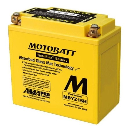 Batteria Motobatt MBYZ16H 16,5Ah 240A 12V Quadflex MOTOBATT - 1